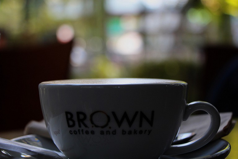 Local coffee shop Brown is proving popular with Cambodia youth. Copyright Philip Brooks/ Flickr