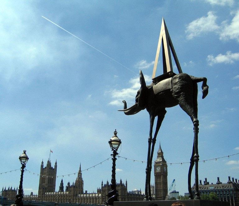 Dalí's 'Space Elephant' in London   © Ruth Hartnup