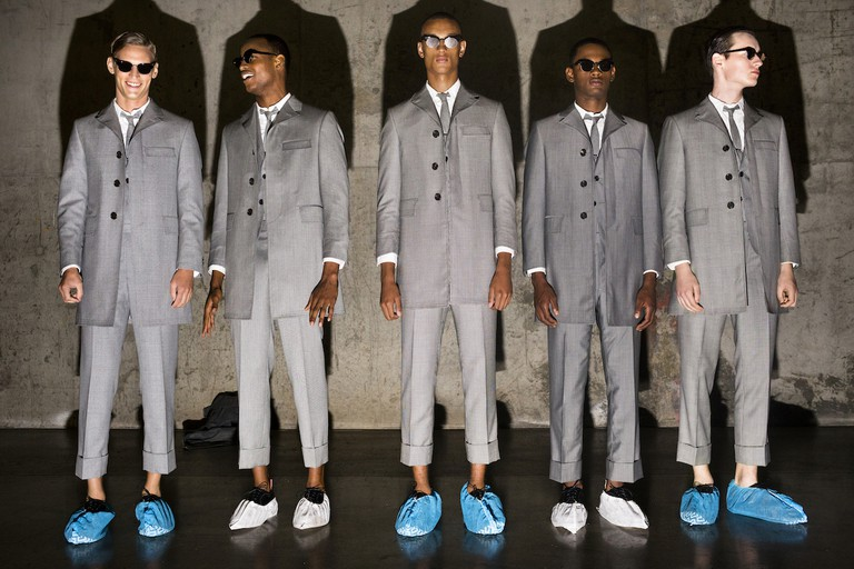 Thom Browne. Scenes from New York Men's Fashion Week, on Tuesday, July 14, 2015, in New York City. | Courtesy of Landon Nordeman