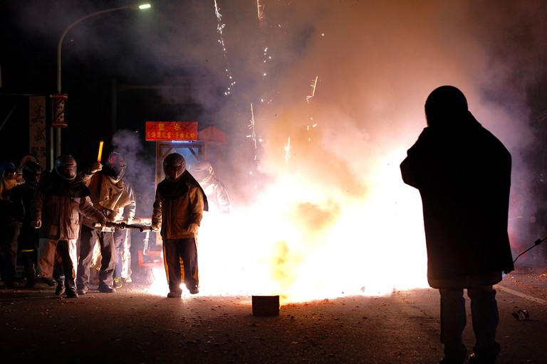 Yanshui Fireworks Yanshui Fireworks is possibly one of the most dangerous in the world | © Yu-Jheng Fang / Flickr
