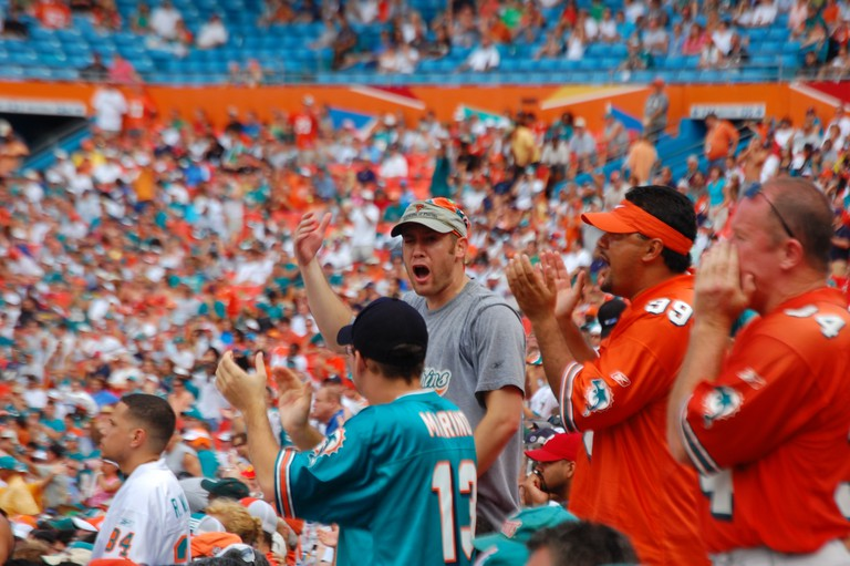 Miami Dolphins Fans via Mr. Usaji