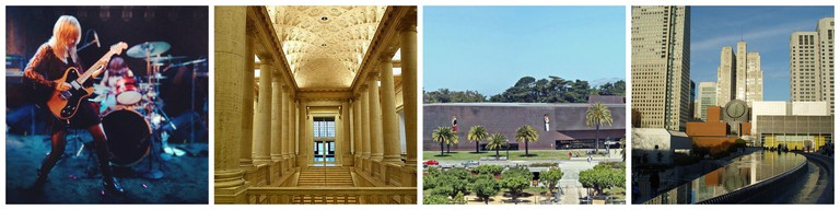 Noise Pop   © Peter Alfred Hess/Flickr / Asian Art Museum © Daderot/Wikipedia / de Young Museum © WolfmanSF/Wikipedia / SFMOMA © Franco Folini/Flickr