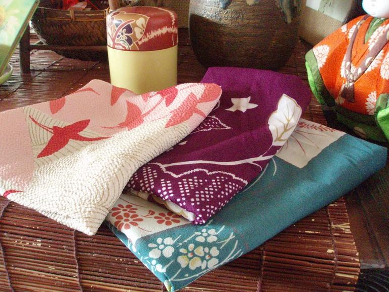 Colorful furoshiki
