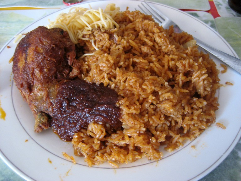 10 traditional ghanaian dishes you need to try a plate of jollof rice sharon mckellar flickr ccuart Gallery