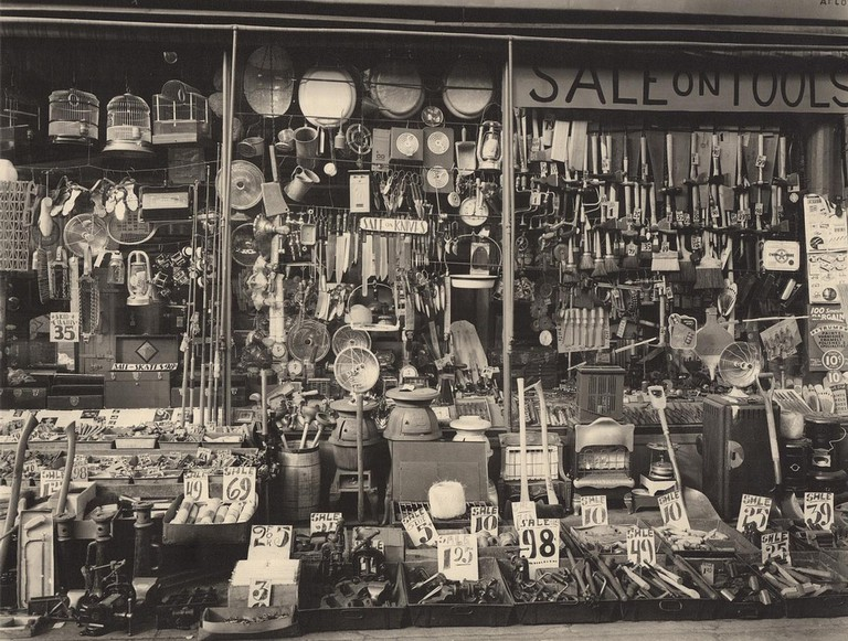 [ A ] Berenice Abbott - Hardware Store, 316-318 Bowery at Bleecker Street, New York (1938) | © cea +/Flickr
