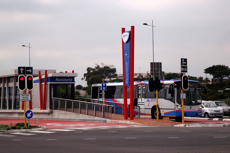 A MyCiti Bus station in Cape Town