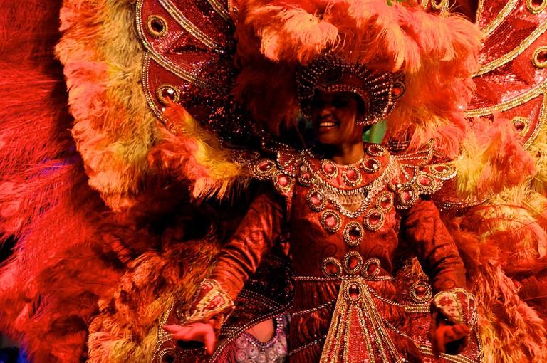 A sensational costume at Rio Carnival