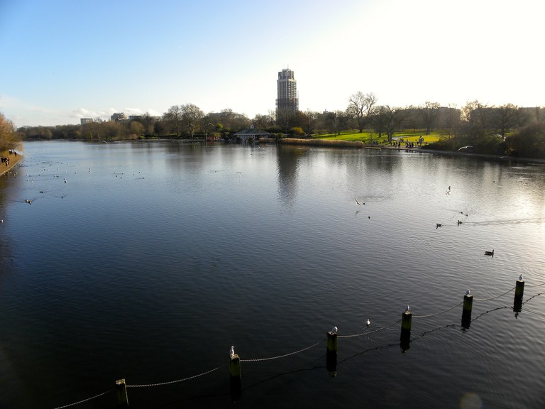A view of the Serpentine lake