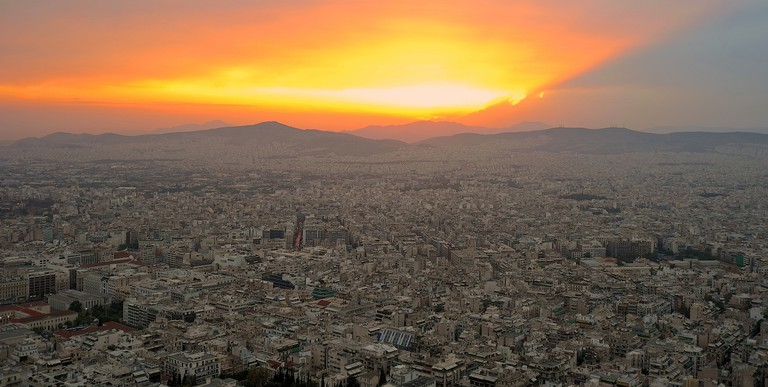 Sunset view from Lycabettus