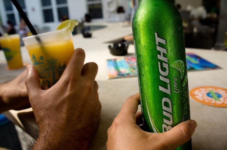 Drinks at the Clevelander via Peryl Herrera