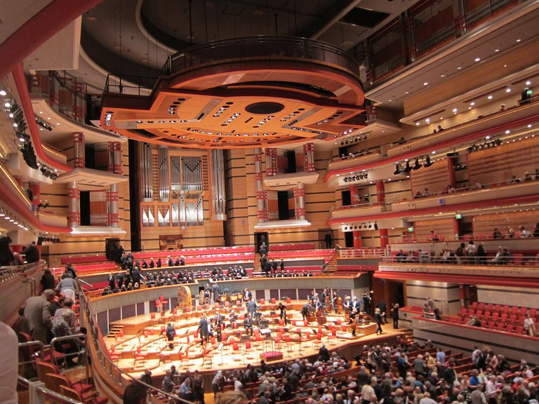 A live performance at the Symphony Hall