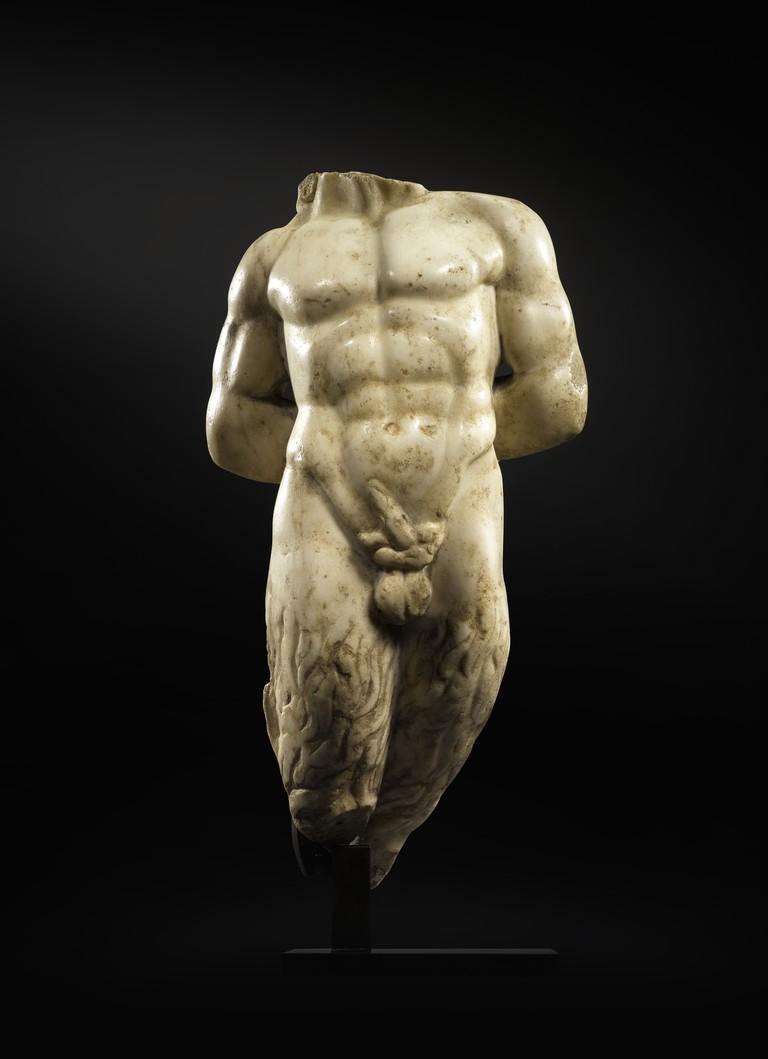 A Roman Marble Torse of Pan, circa 2nd century A.D. (est. £40,000-£60,000)