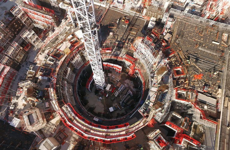 Aerial close up of construction at the ITER site │ © ITER Organization, EJF Riche