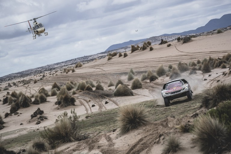 Sebastien Loeb of Team Peugeot TOTAL races during stage 5 from Tupiza to Oruro, Bolivia | © Red Bull Content Pool