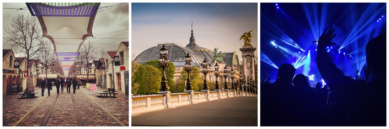 Bercy Village │© Gaurav Mishra / Grand Palais │© Fred PO / Music festival │© Unsplash