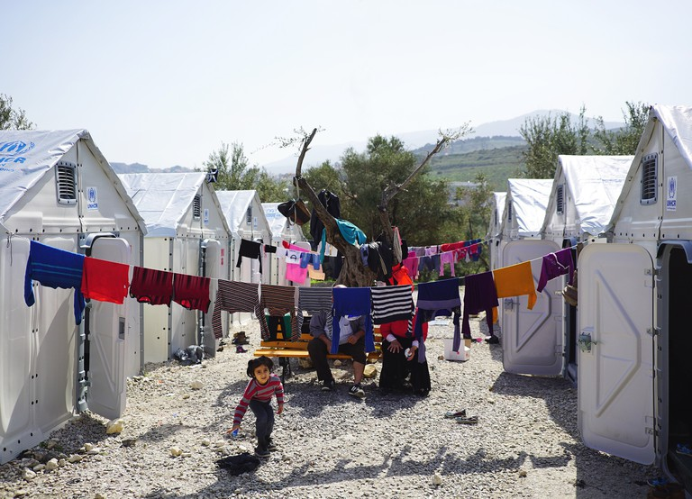Better Shelter units in Kara Tepe transit site, Mytilene, Lesvos, Mar 2016 | © Märta Terne