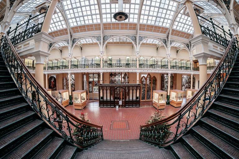 Winding starcase at Birmingham Museum and Art Gallery