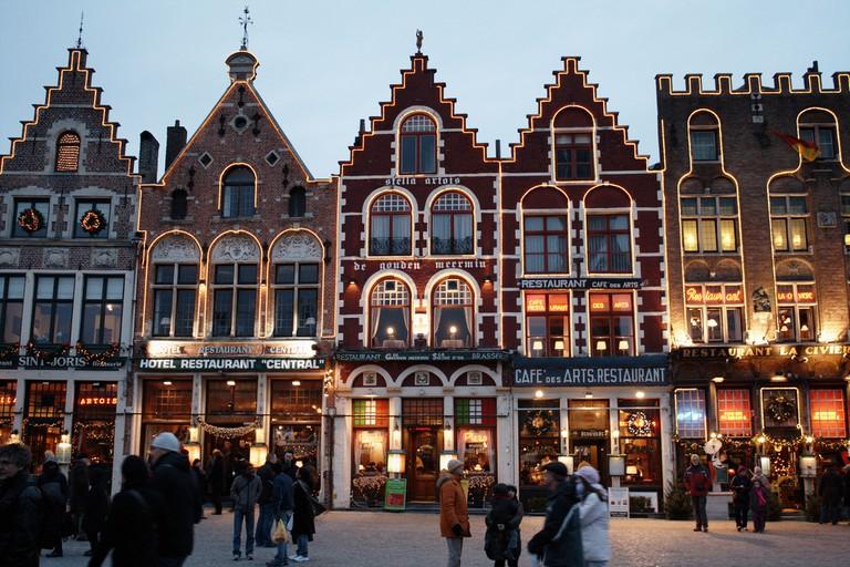Bruges' Markt in wintertime | © Richard Barrett-Small / Flickr