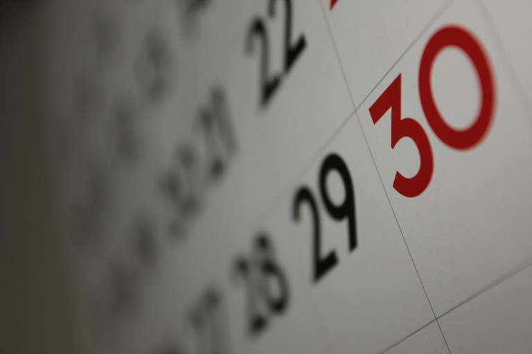 Calendar | ©Dafne Cholet/Flickr