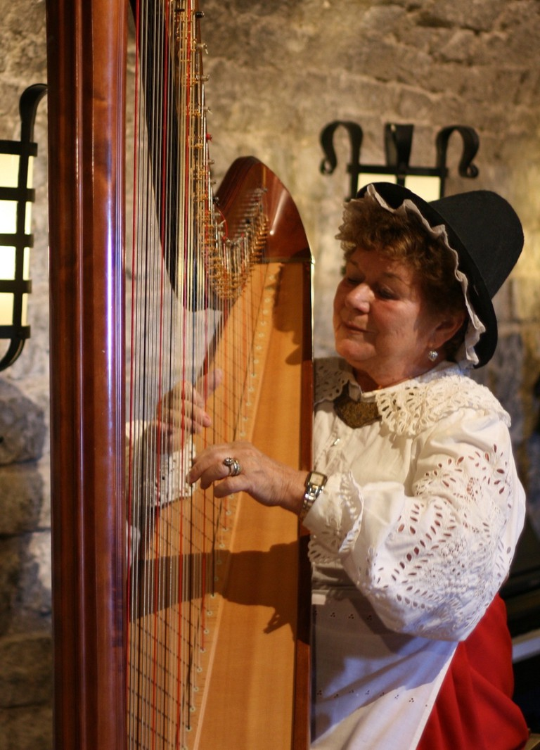 Harp playing at a Cardiff Banquet