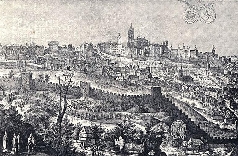 Prague Castle in 1607   © Jiljí Sadeler / Wikimedia Commons