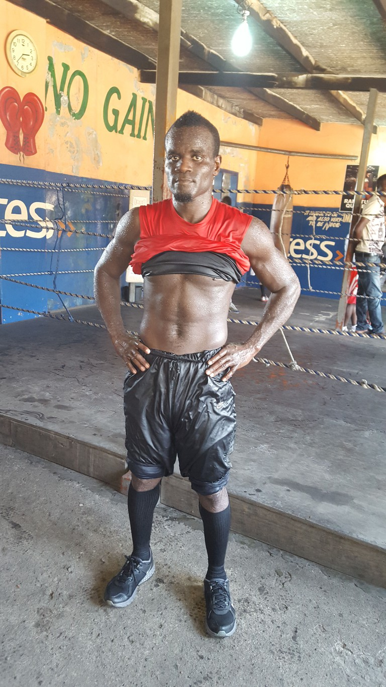 Joshua Clottey in his homebased gym | Courtesy of Star Boxing®