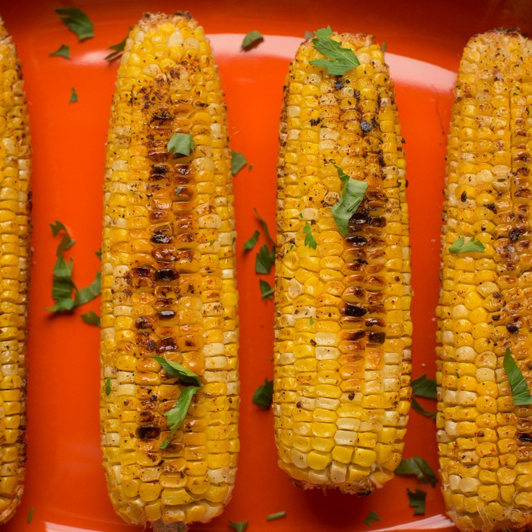 Roasted corn, a seasonal street food hit
