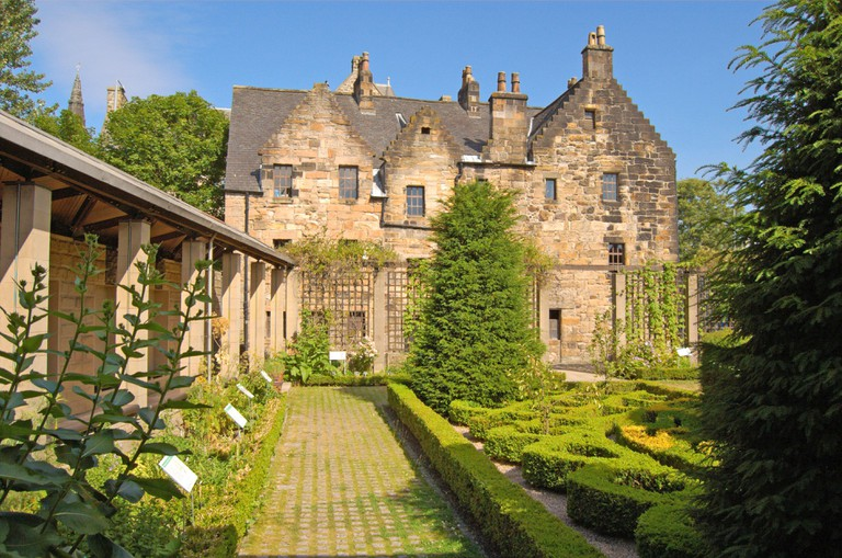 Grounds of Provand's Lordship, the oldest standing house in Glasgow, Scotland.