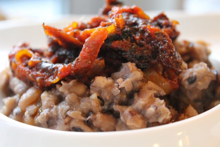 Ewa Agoyin (beans and sauce), one of Lagos's beloved street staples