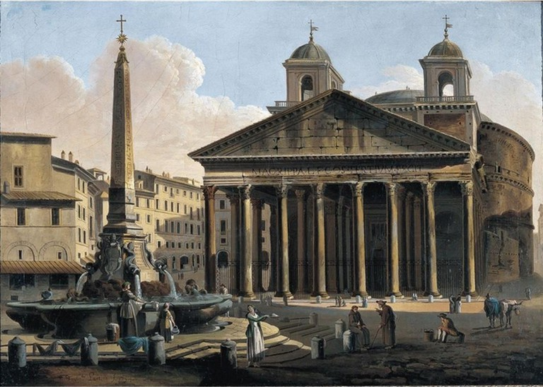 The Pantheon in 1794 with its twin bell towers | © Wikimedia Commons