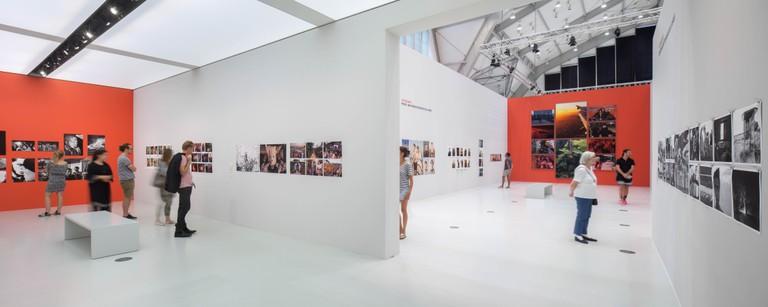 Innenansicht der Sammlung Falckenberg - Deichtorhallen Hamburg während der Ausstellung von WIM WENDERS. Foto: Henning Rogge / Deichtorhallen.