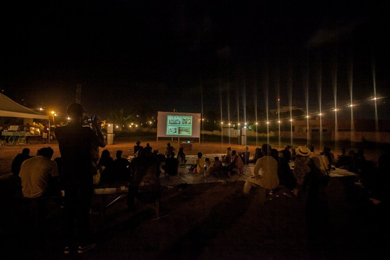 The audience at Classic in the Park | Courtesy of African Film Society