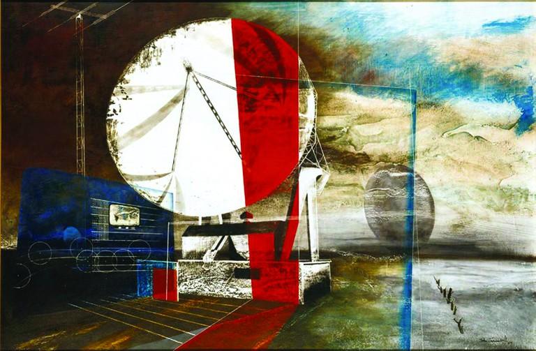 John Tunnard (1900-1971) 'Messenger', 1969 Oil, tempera, sand and pencil on board (c) The Estate of John Tunnard Image courtesy of JP Bland Photography