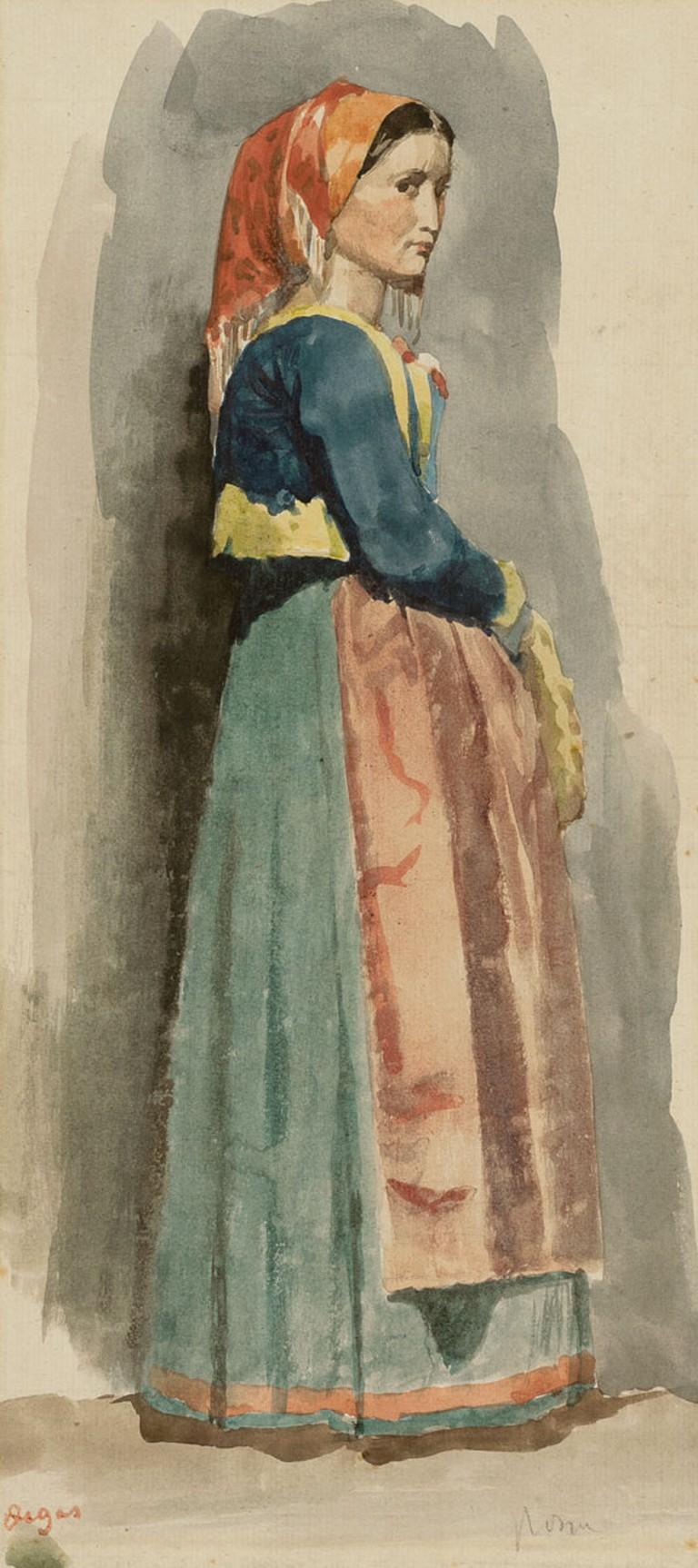 Edgar Degas, 'Italienne', 1856 | Courtesy The Lucas Museum
