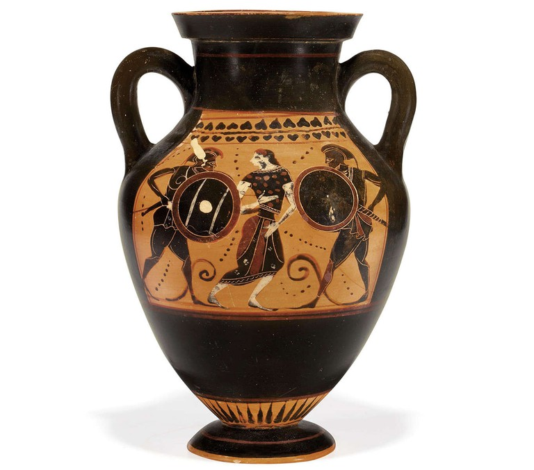 An Attic Black-Figured Amphora, 520 BCE |Courtesy The Lucas Museum