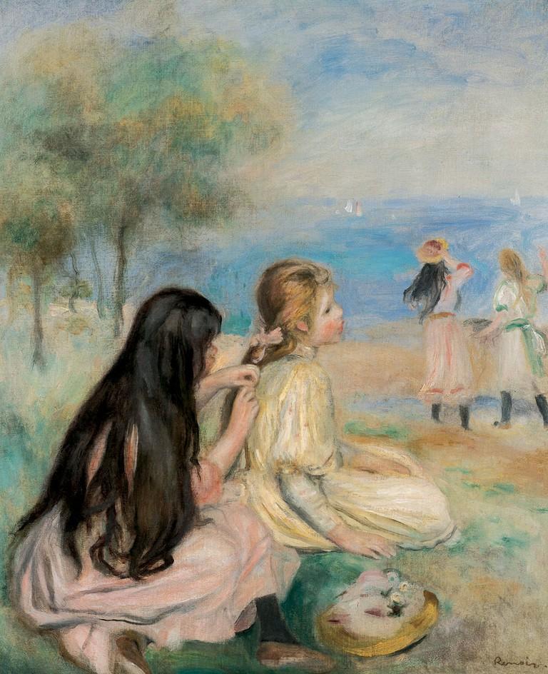 Pierre-Auguste Renoir, 'Les Enfants au Bord de la Mer', 1894 | Courtesy The Lucas Museum