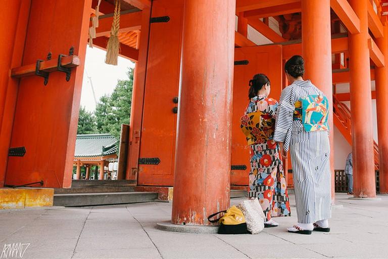 Main Gate at Heian Jingu Shrine