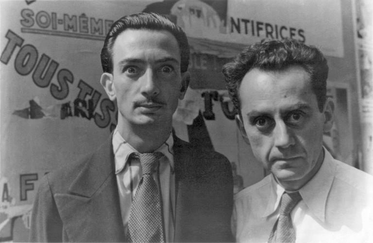 Dalí and Man Ray   CC0 Public Domain