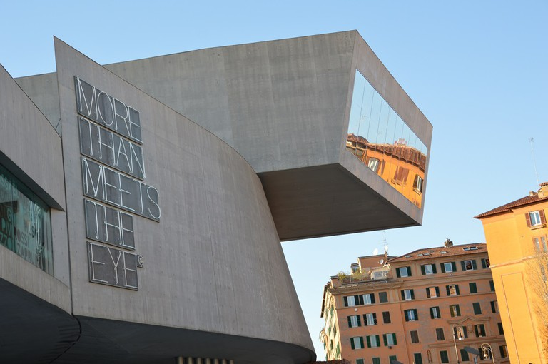 Exterior view of MAXXI designed by world-renowned architect, Zaha Hadid, Courtesy Photo | Lisa Morales