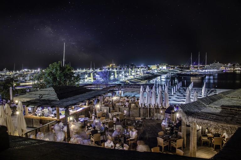 Restaurant on the Middle Deck of Barasti   Courtesy of Le Meridien Mina Seyahi