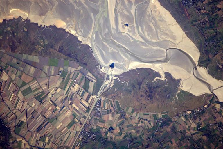 Mont St. Michel │© ESA/NASA