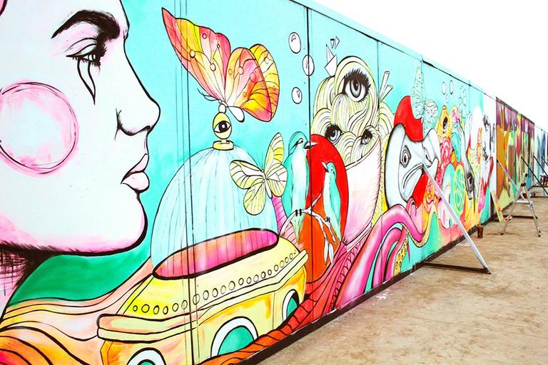 Mural Corona Capital © Sofia Castellanos