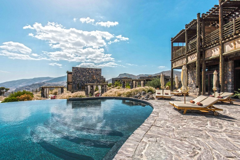 The Alila Jabal Akhdar resort was inspired by traditional Omani building techniques. Photo courtesy of Alila Jabal Akhdar