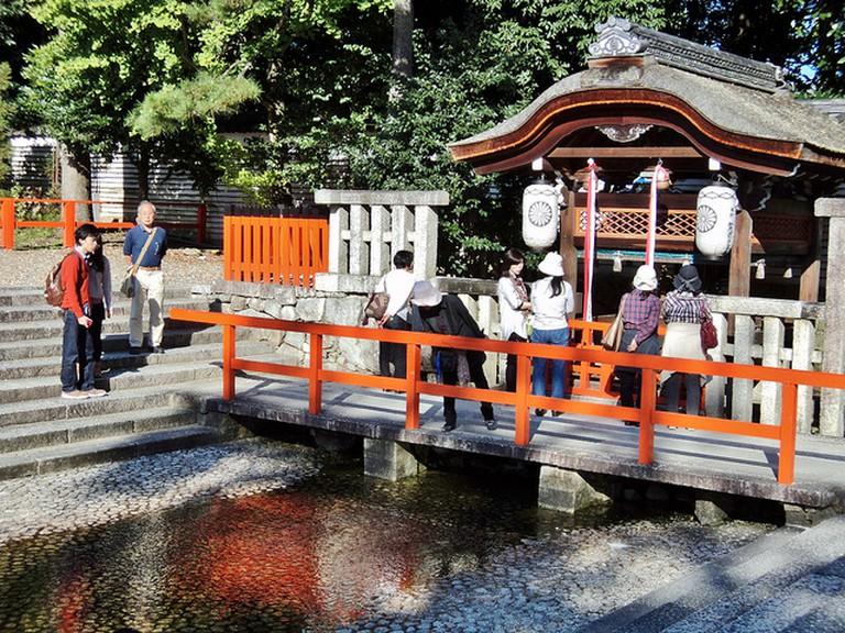 Purifyingn Pool at Shimogamo Jinja Shrine