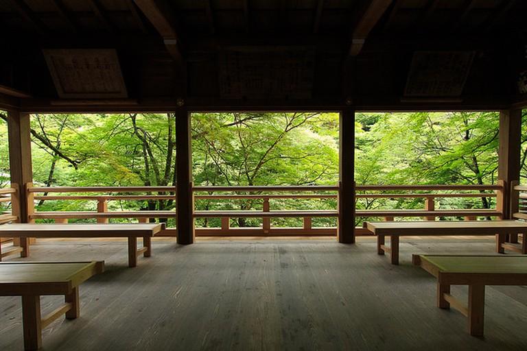 Resting at Kifune Jinja Shrine
