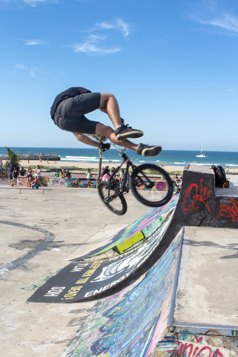 The skate park in North beach adds to the fresh atmosphere|© SA Tourism