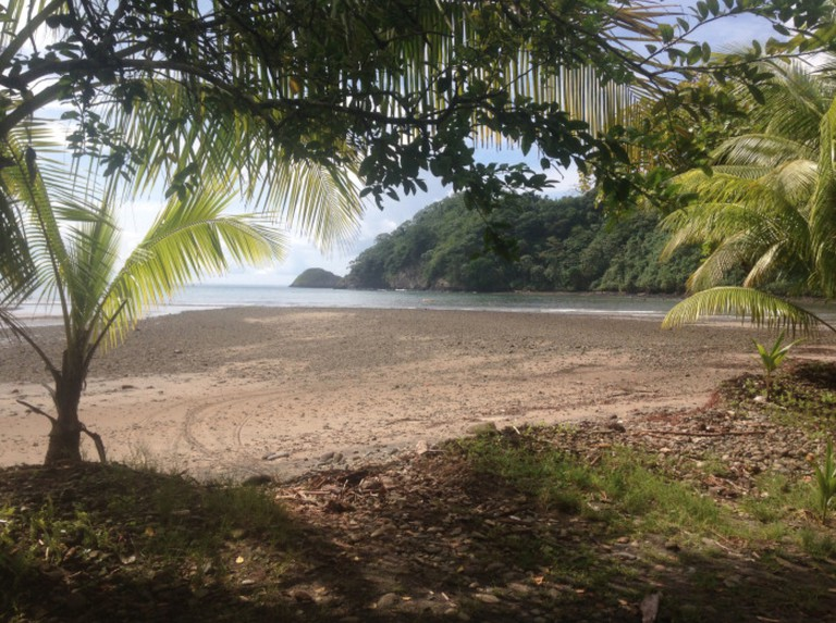 On the beach at Cocos Island