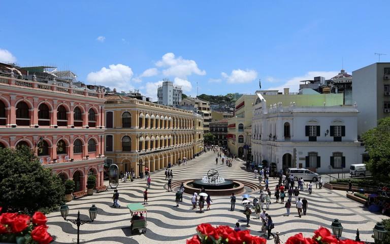 Macau is a walkable city, especially its Historic Town Centre. Senado Square Macau