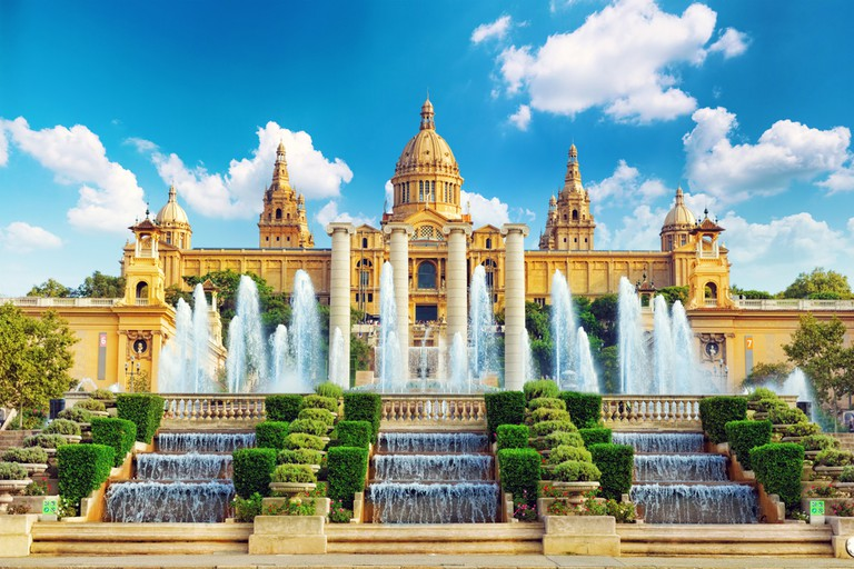 National Museum in Barcelona,Placa De Espanya, Spain