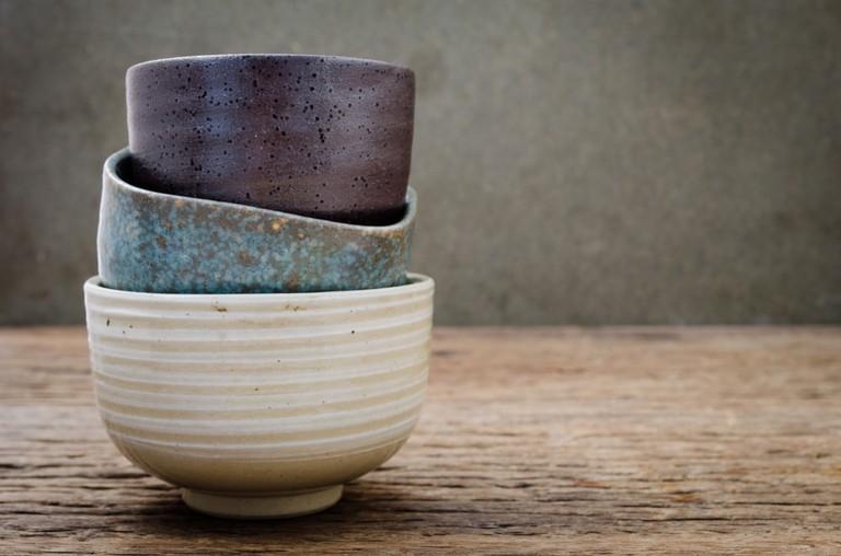 Japanese handmade ceramic bowl